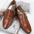 New Premium Embio Brown Leather Mens Dress Formal Loafers Shoes