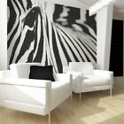 FLEECE PHOTO WALL PAPER ZEBRA Tattoos Stickers Living Room Wandtatoo Flower