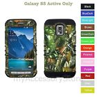 Samsung Galaxy S5 Active Camo Mossy Oak Hybrid Rugged Impact Armor Phone Case