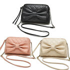 Women Shoulder Bag Lady Faux Leather Hand Bag Bow Knot Satchel Fashion Body Tote