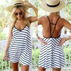 New Summer Sexy Women Sleeveless Party Dress Evening Cocktail Casual Mini Dress