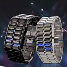 UK CH Watches For Men Bracelet Stainless Steel Carbonized Steel Binary LED Cheap