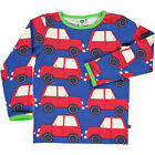 BNWT Boys Smafolk Blue Car Long Sleeved T-shirt NEW Kids Top Blue Red Cars