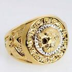 Jewelry Fashion Retro Ring Size 8/9/10/11/12 Lion Golden Alloy Womens Engagement