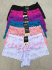 Vintage Lot 1 3 6 Sexy Party Matching Boxer Floral Lace Boyshorts Panty S/M/L