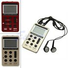 Portable Mini AM/FM 2 Band Digital Tuning Stereo Radio Receiver + Earphone DC 5V