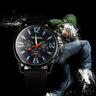 Titanium Casing Smart Casual Business Men Army Sport Silicone Rubber Watch