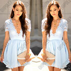 Womens Lace Babydoll Evening Prom Cocktail Party Formal Occasion Ladies Dress