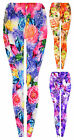 Girls Floral Printed Dance Pant Bright Leggings New Kids Trousers Age 1-12 Years