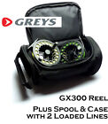 GREYS GX300 Fly Reel COMBO - 2x Loaded Fly Lines & Greys Reel Case - RRP £109!