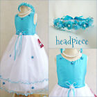 Gorgeous Turquoise blue pageant flower girl party dress size 2 4 6 8 10 12