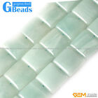 "Natural Amazonite Gemstone Square Beads Free Shipping Strand 15"" 12mm 20mm"
