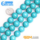 "Stablized Blue Turquoise Gemstone Round Beads Free Shipping 15"" 4mm 6mm 8mm 10mm"