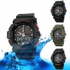 SKMEI Men's Solar Power Dual Time Zone Analog Waterproof Military Quartz Watch
