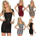 N1-78 Women Square collar short sleeve Women Sexy lace Mini Dresses + free belt