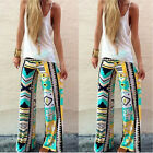 Wide Leg Casual Women Pants Long Bohemian Loose Palazzo Trousers Beach Pants