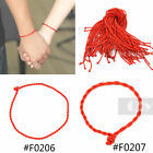 50 pcs Braided Red Rope Cord Bracelet Couples Lucky String Simple Style New