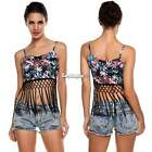 Fashion Sexy Womens Tassel Crop Bustier Corset Tops Blouse Tank Top Shirt ES9P