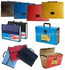 EXPANDING BOX FILE ORGANISER A4 DOCUMENTS PAPER FOOLSCAP FOLDER CASE WALLET