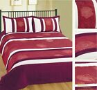 Luxury 3pce Quilted Bed Spread Bedspread Comforter Set Single Double King Floral