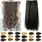 Uk Retail Straight Wavy Curly Clip In Hair Extensions One Piece 3/4 Full Head