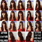 RED Brown Wig Natural Long Curly Straight Wavy Synthetic Wig Women Fashion Party