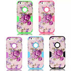 Deluxe The Flowers Heavy Hybrid Rubber Front Back Case Cover for Apple iPhone6