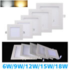 LED Round/Square Recessed Ceiling Panel Downlight Spot Light Lamp White LD436