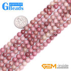 Round Smooth Gemstone Rhodochrosite DIY Jewelry Making Loose Beads Strand 15""