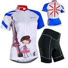 Cycling Bike Short Sleeve Clothing Bicycle Jersey+Shorts For WomanSize S-XL Baby