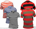 MENS RED WHITE LINING STRIPED TSHIRT TOP FANCY DRESS BLACK GREEN
