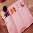 Vintage Roll Faux Leather Makeup Cosmetic Brush Pen Pencil Case Bag Cheap USw