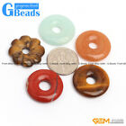 20mm Round Donut Pendant Beads Gemstone For Jewelry Making 1 Pcs  Free Shipping