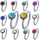 Fashion Brand Jewelry Women Fine Stones 925 Silver Filled Wedding Ring Size 6-9