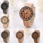 2015 New Hot Fashion Womens Vintage Wood Texture Grain Digital Quartz Watch Gift