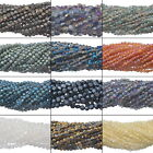 1Strand Faceted Crystal Glass Jewelry Findings 4mm x4mm 6mmx5mm