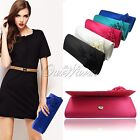 Women Handbag Shoulder Chain Clutch Bag Satin Rose Decor Wedding Evening Party