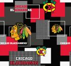 CHICAGO BLACKHAWKS NHL HOCKEY 100% COTTON FABRIC MATERIAL CRAFTS BY THE 1/2 YARD