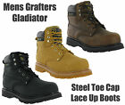 Mens Grafters Gladiator Leather Steel Toe Cap Midsole Safety Work Boots Goodyear