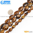 Natural Stone Tiger's Eye Drip Beads For Jewelry Making Free Shipping Strand 15""