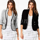 New Stylish Womens Ladies Casual Suit Coat Jacket Blazer Size 2 6 10 14 16