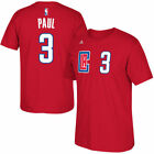 Men's adidas Chris Paul Red Los Angeles Clippers 2015 Net Number T-Shirt