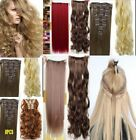 15 18 22 inch Real Quality Thick 8 Piece CLIP IN HAIR EXTENTIONS FULL HEAD Sale