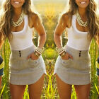 2015 Women Sexy Summer Sleeveless Bandage Bodycon Club Cocktail Party Mini Dress
