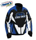 CASTLE X™ Men's Blue Insulated LAUNCH G1 Winter Snowmobile Jacket 70-442_