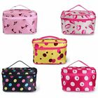 Women Lady Cosmetic Makeup Bag Case Mirror Travel Toiletry Wash Holder Handbag