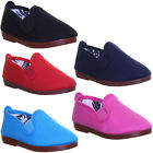 Flossy Pamplona Kids Canvas Trainers Slip On Uk Size