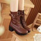 Flossy Women Thick Bottom Lace-up High Heel Ankle Boot Martin Boot Shoes US LA