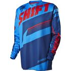 MENS GUYS SHIFT RACING MX ATV RIDING ASSAULT BLUE JERSEY SHIRT OFFROAD