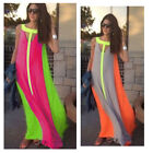 Lady Boho Summer Beach Evening Party Long Maxi Chiffon Lace Dress Sleeveless
